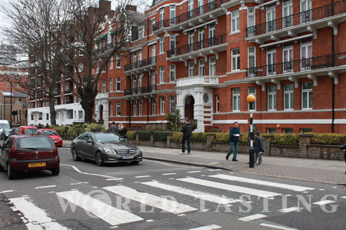 Abbey Road's famous zebra crossing, London