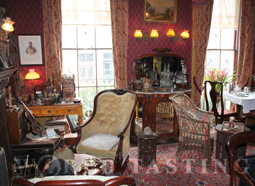 Interior of the Sherlock Holmes Museum in London, a bit cluttered in my opinion