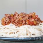 Meatless spaghetti Bolognese