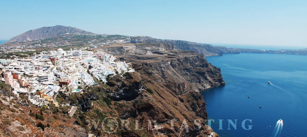 A view over Fira, the main town in Santorini