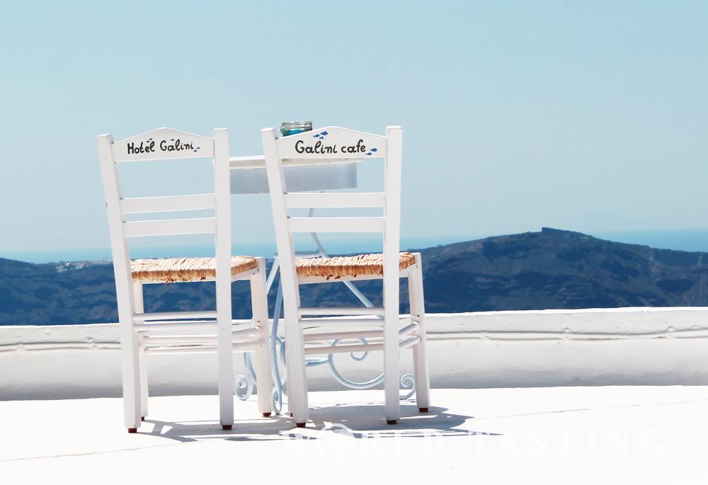 Santorini: caldera view