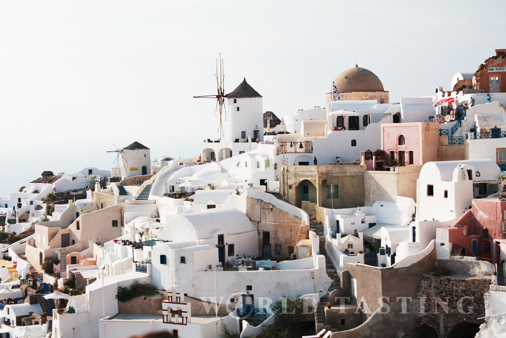 The town of Oia, Santorini