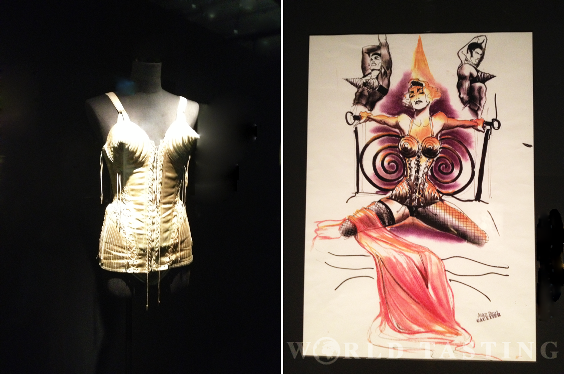The famous Jean Paul Gaultier corset worn by Madonna