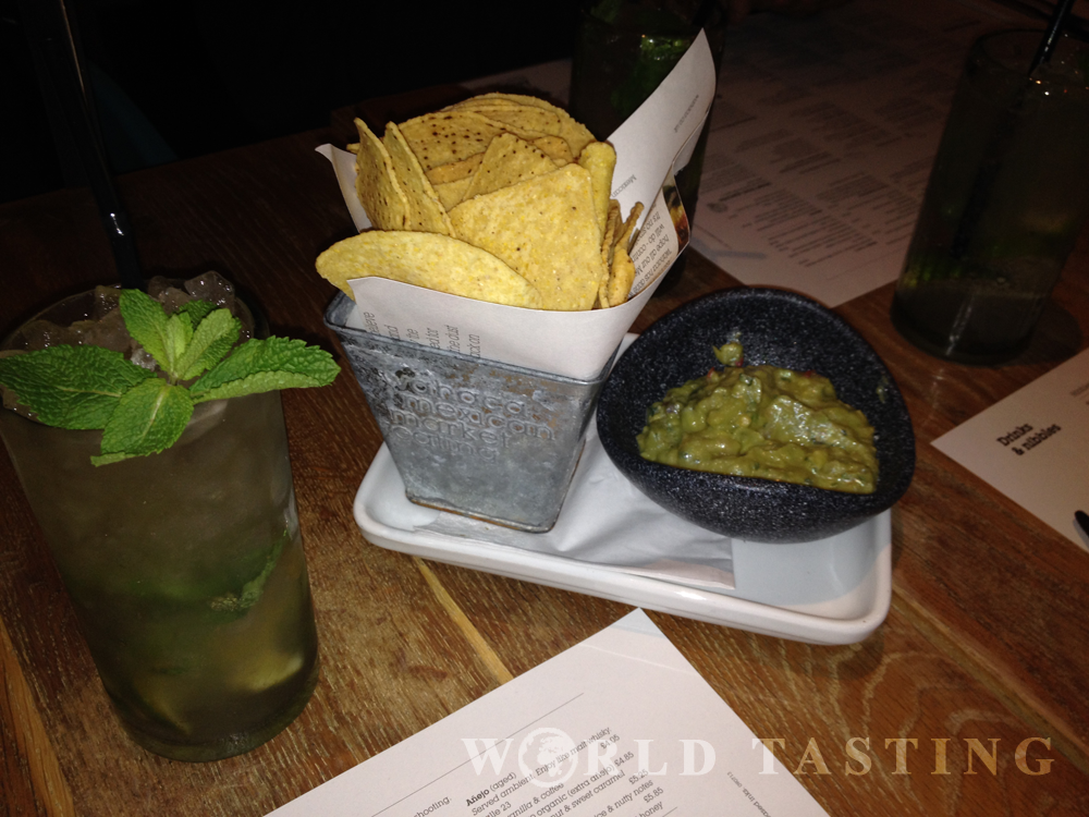 Wahaca restaurant, Canary Wharf, London