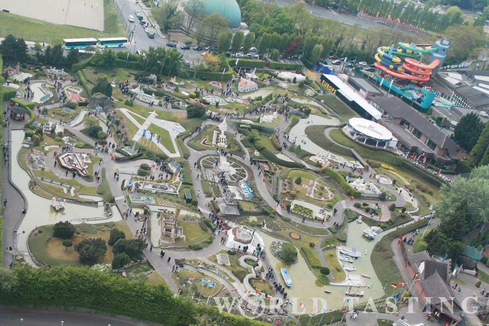 Mini Europe - view from The Atomium in Brussels