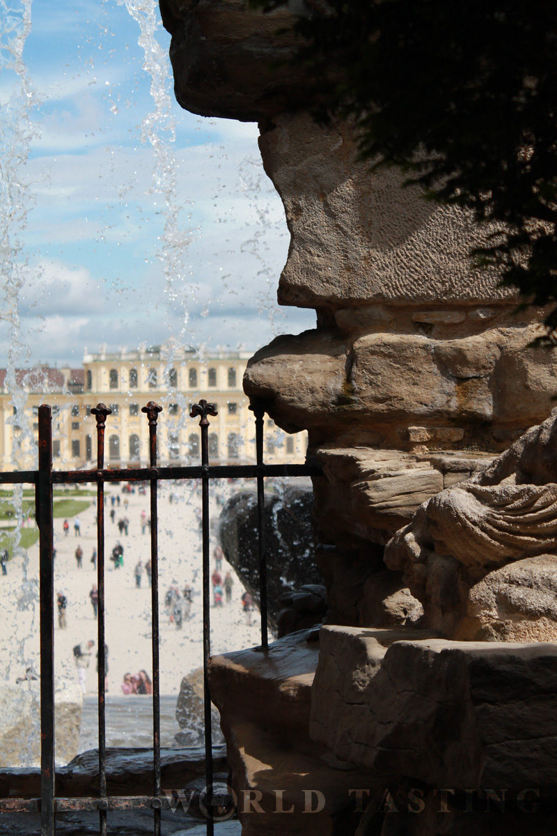 Schönbrunn Palace from behind the Neptun fountain - Vienna