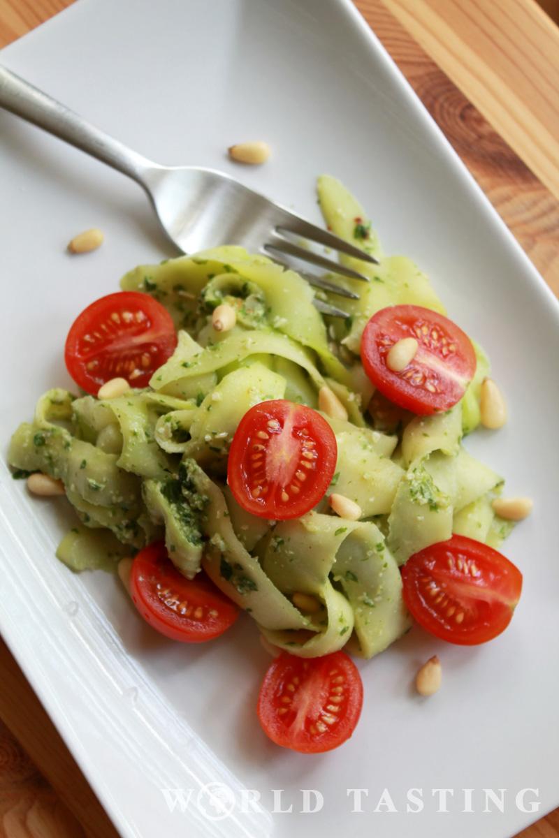 Zucchini Tagliatelle - No-Carbs Tagliatelle
