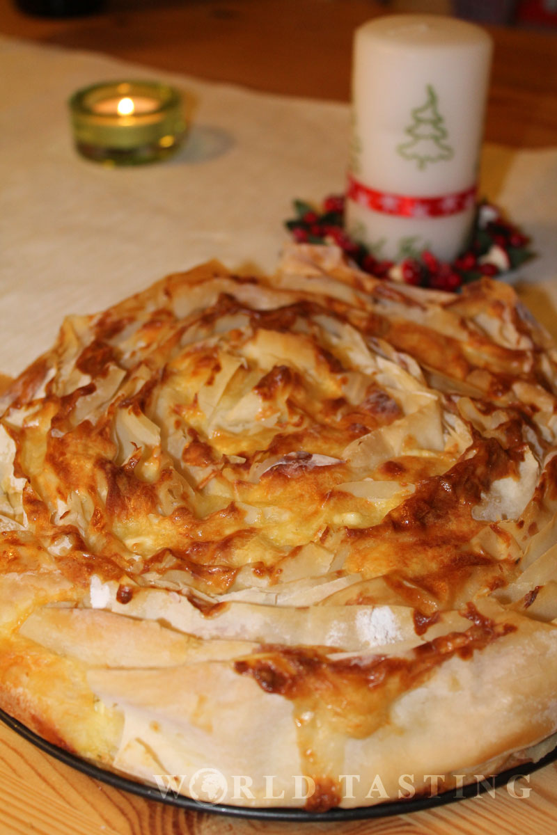 Traditional Bulgarian Cheese Pie Banitsa Recipe