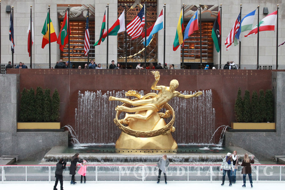 rockefeller plaza rockefeller center new york city