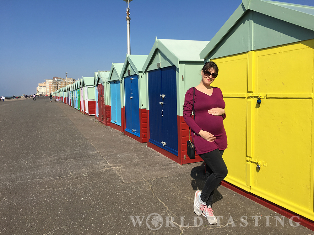 Hove Lawns, colorful seaside huts in Brighton